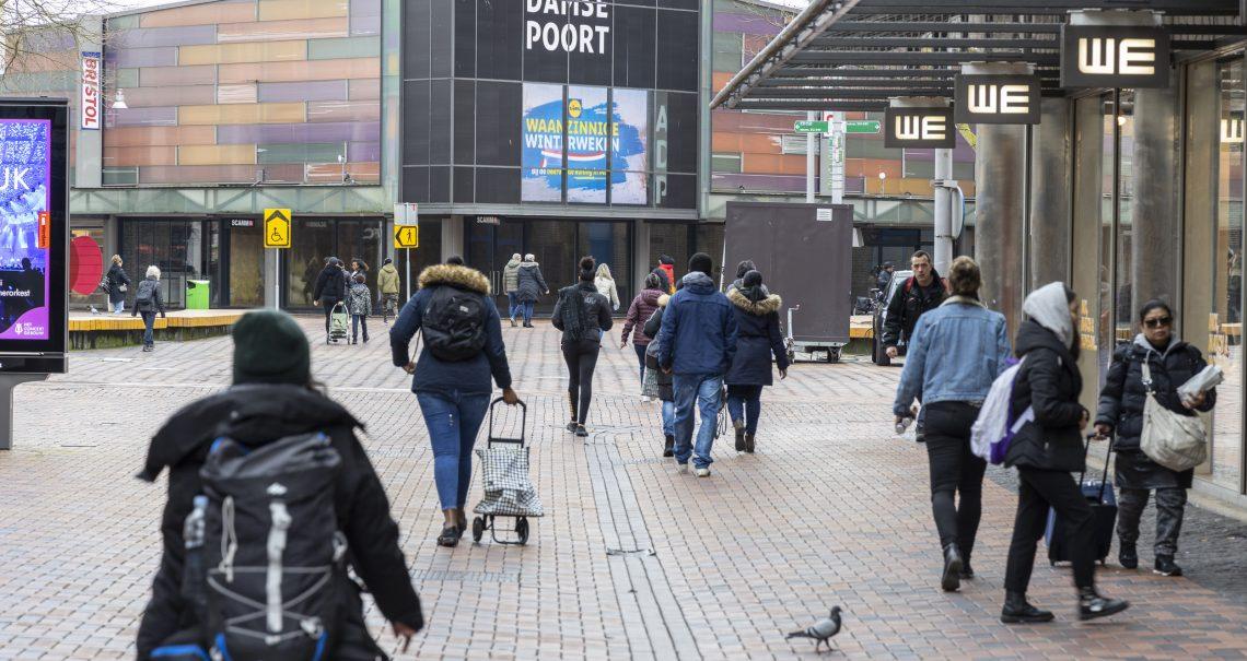 Digitaal scherm Amsterdamse Poort campagne Lidl