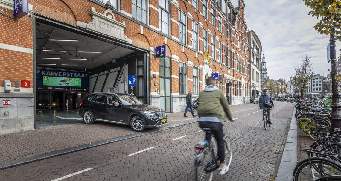 Digitaal scherm Amsterdam Kalverpassage Parkeergarage campagne Lidl