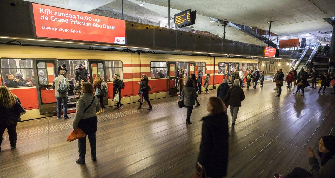 DOOH campagne Ziggo Den Haag Tramtunnel