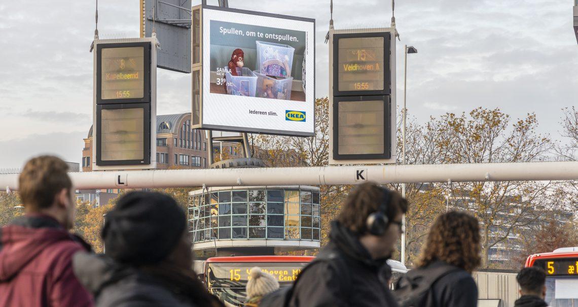 DOOH campagne Ikea op Eindhoven Busplein