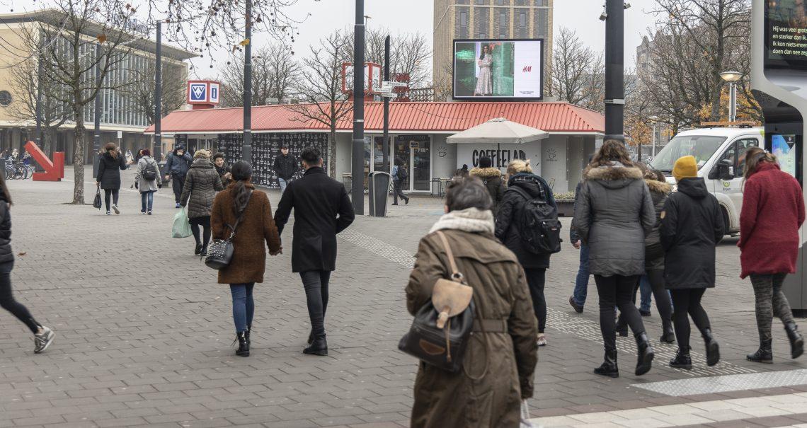 H&M campagne Eindhoven Stationsplein