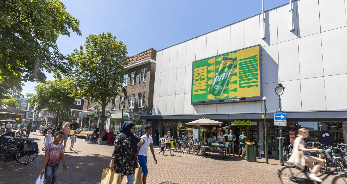 Campagne Sprite Digitaal scherm Ocean Outdoor Nederland