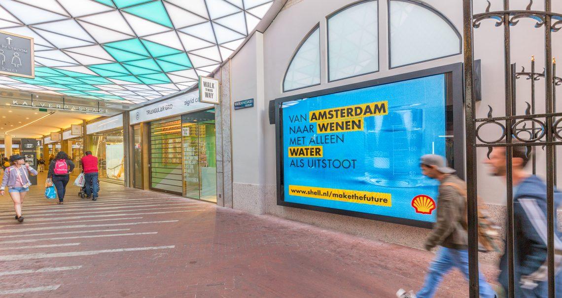 Digitaal scherm Amsterdam Kalverpassage Heiligeweg