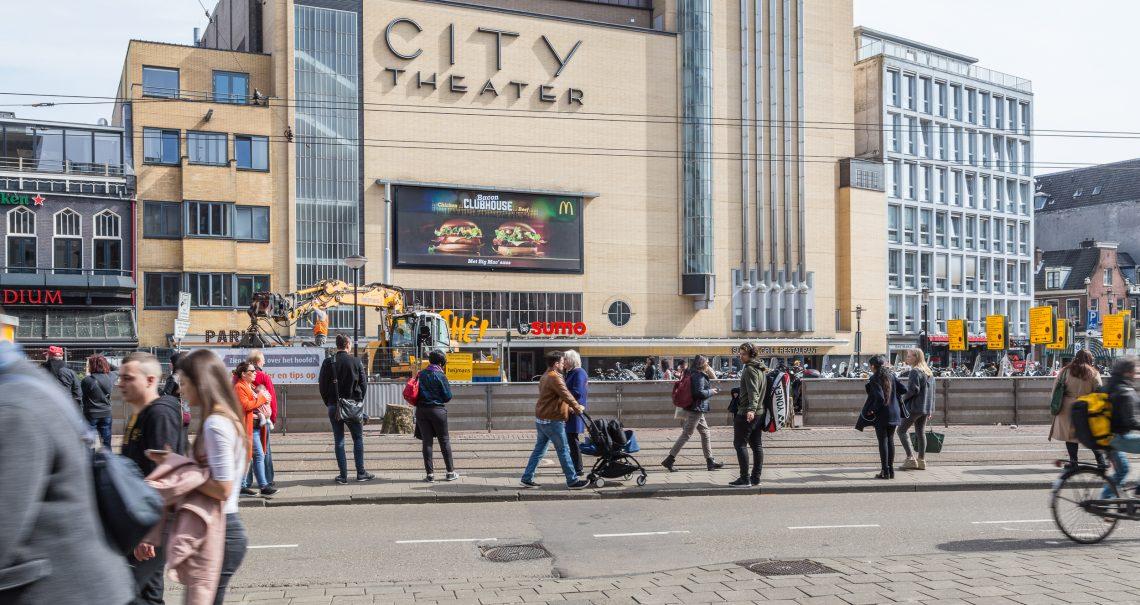 Amsterdam Leidseplein digitaal scherm