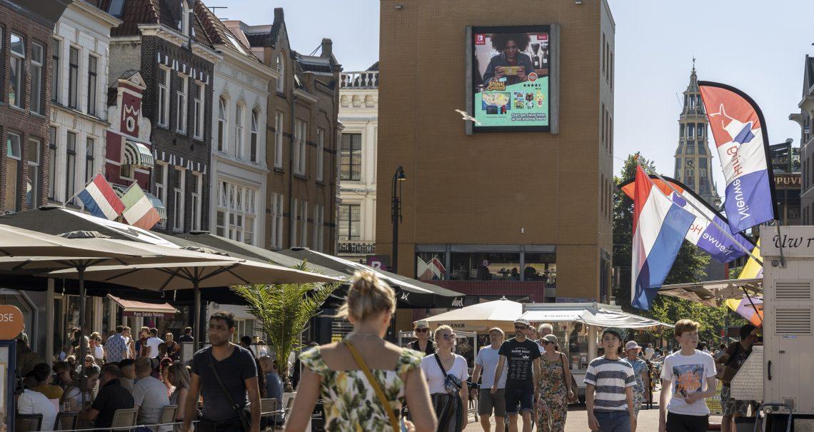 DOOH campagne Nintendo op Groningen Grote Markt