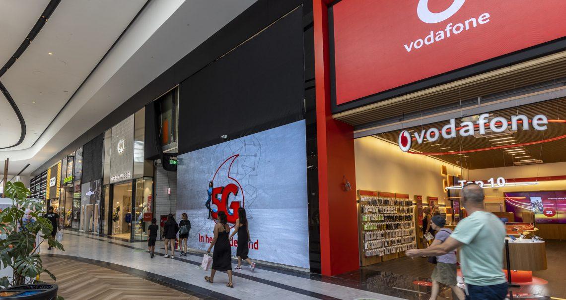 Westfield scherm campagne Vodafone