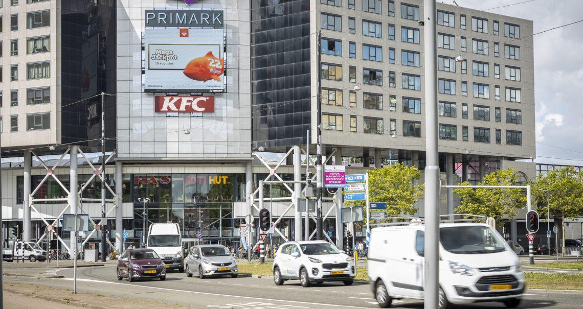 Digitaal scherm Rotterdam Zuidplein