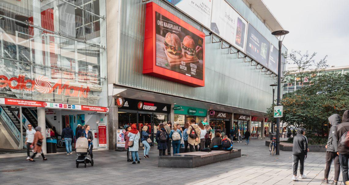 DOOH Campagne McDonalds Rotterdam Binnenwegplein