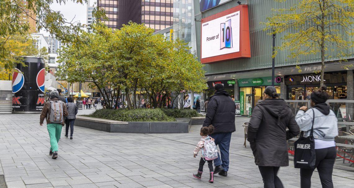 Rotterdam Binnenwegplein DOOH campagne Samsung