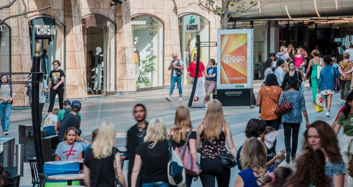 Digitale streetpads Rotterdam Koopgoot campagne Ziggo