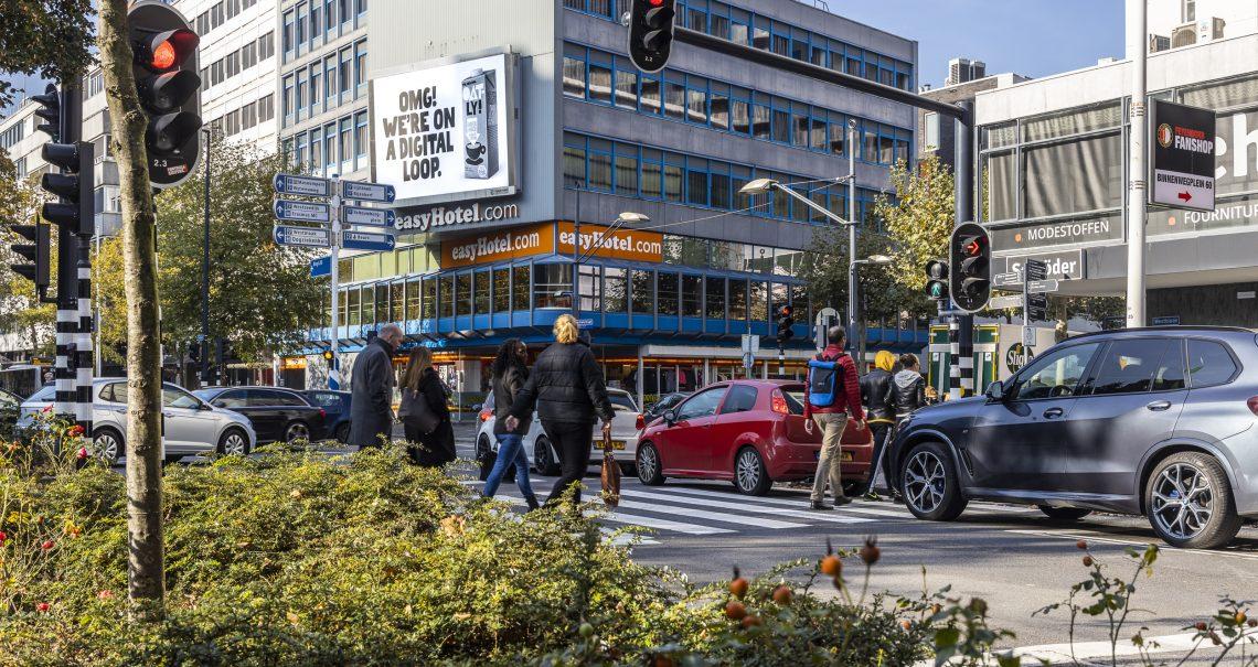 Rotterdam Westblaak digitaal scherm campagne Oatly