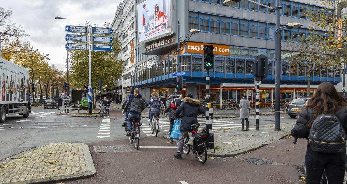 DOOH campagne Qmusic op Rotterdam Westblaak