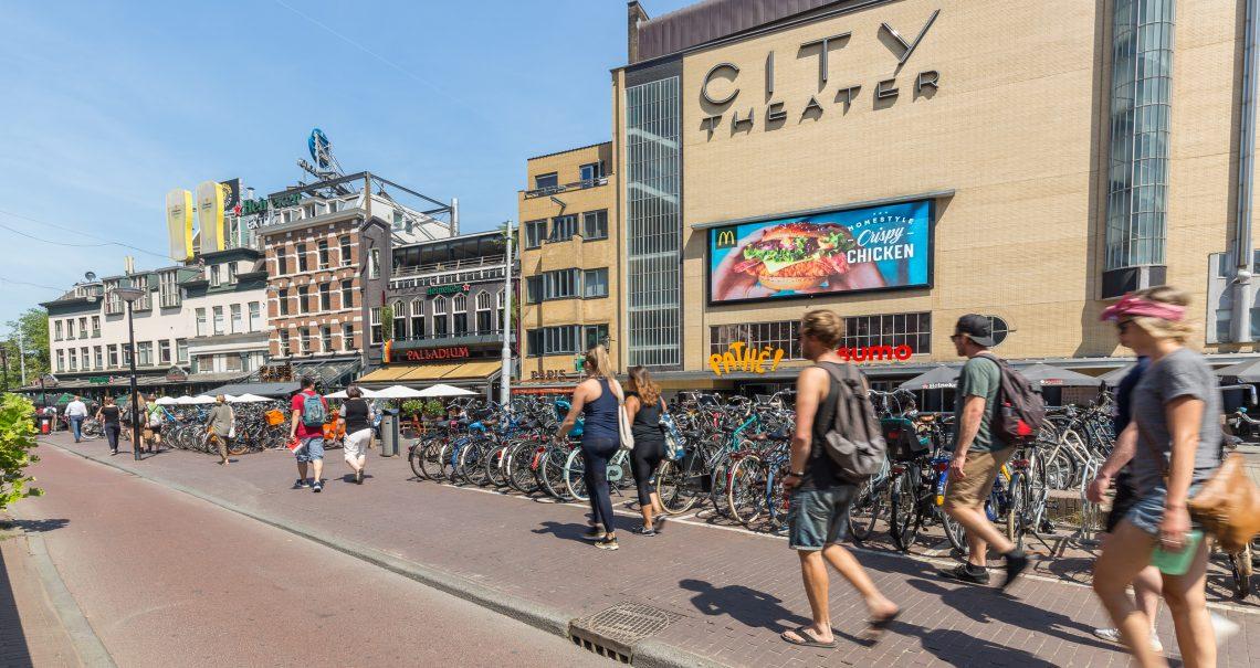 Digitaal scherm Amsterdam Leidseplein