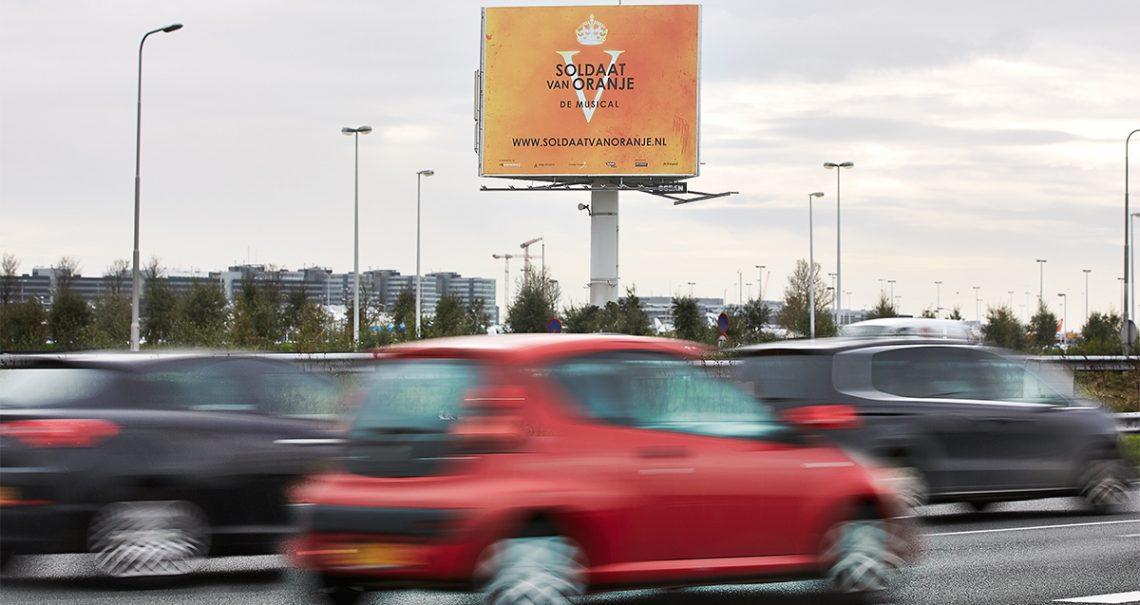 Snelwegmast Schiphol Airport 3 A4 A-zijde