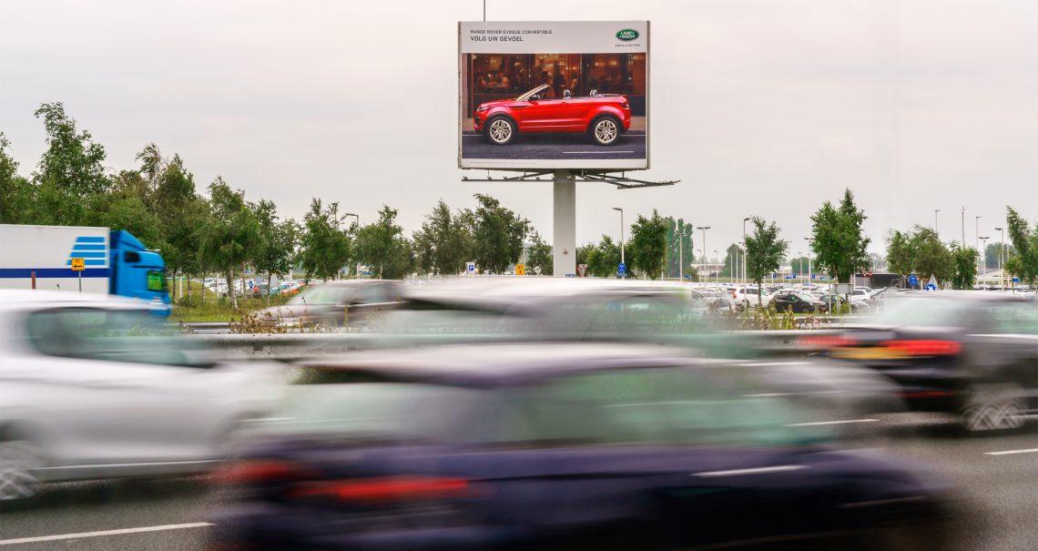 Ocean reclamemast Schiphol Airport 5 A4 A-zijde