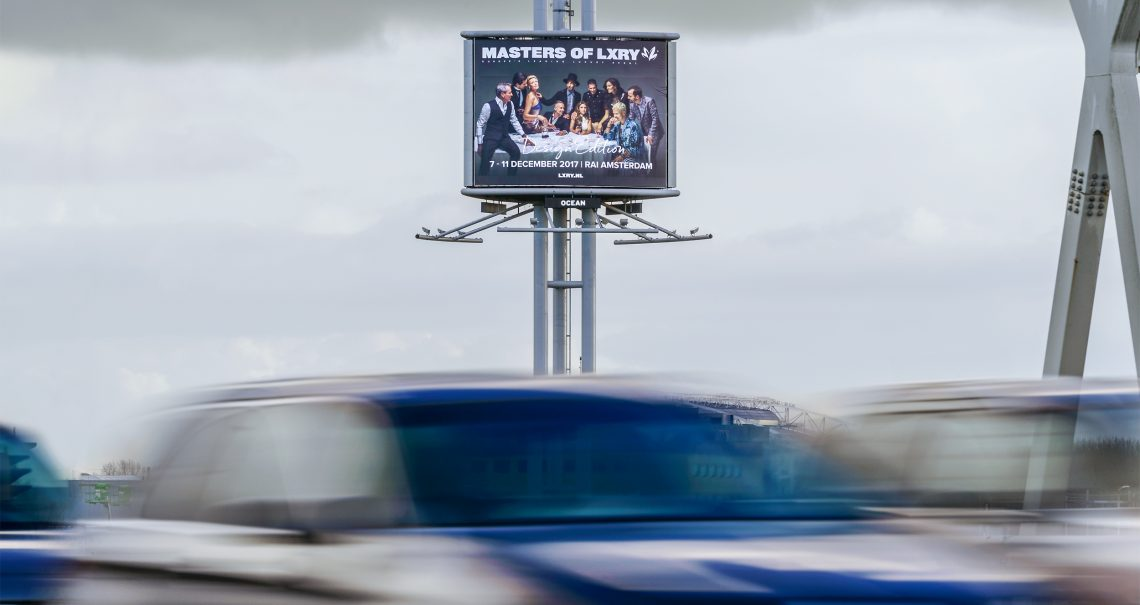 B-zijde reclamemast Amsterdam Knp Amstel 2 A10/A2