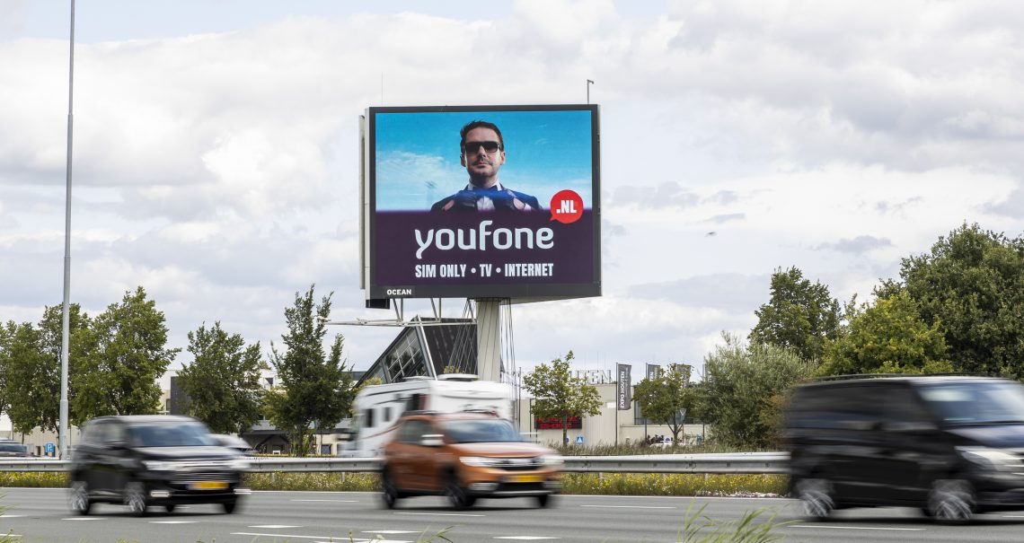Campagne Youfone mast Utrecht Houten A27