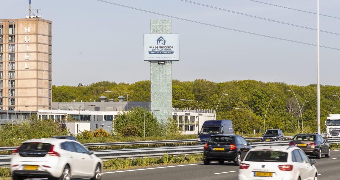 Snelwegmast Eindhoven knp Leenderheide A2/A67 A-zijde - ocean