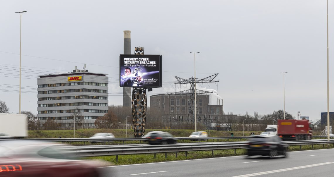 Reclamemast The Wall A2 campagne Sentinel