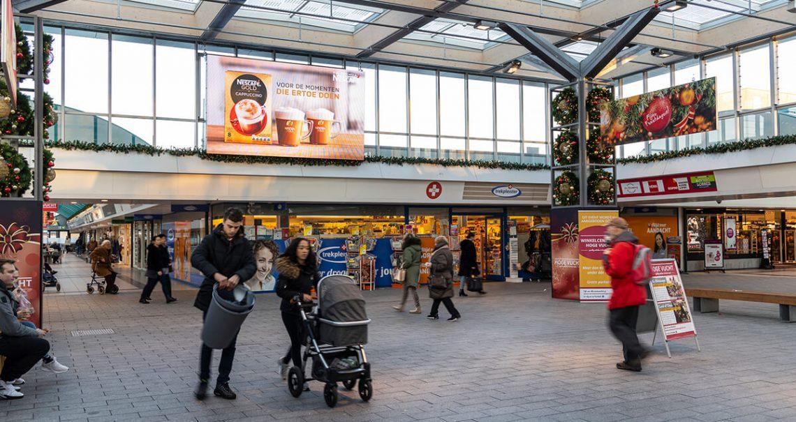 Digitaal scherm Breda Hoge Vucht campagne Nescafe